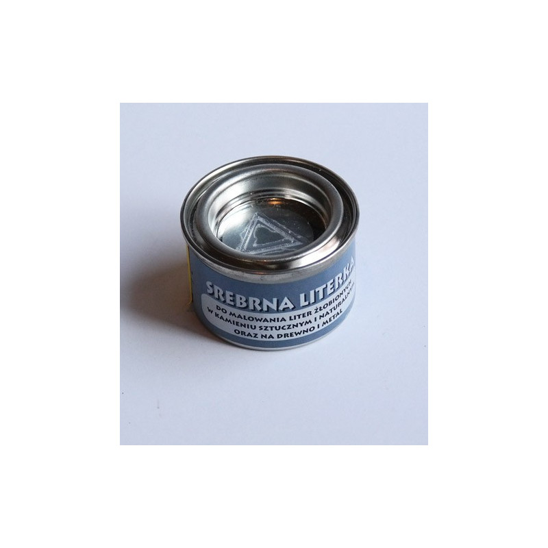 Farby na żywicach akrylowych - Literka - srebrna