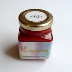 Pigmenty greckie - w paście - czerwień karminowa