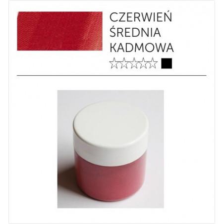Pigmenty greckie - suche - czerwień kadmowa średnia imitacja