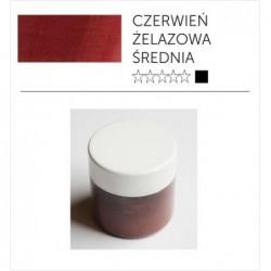 Pigment suchy - czerwień żelazowa średnia