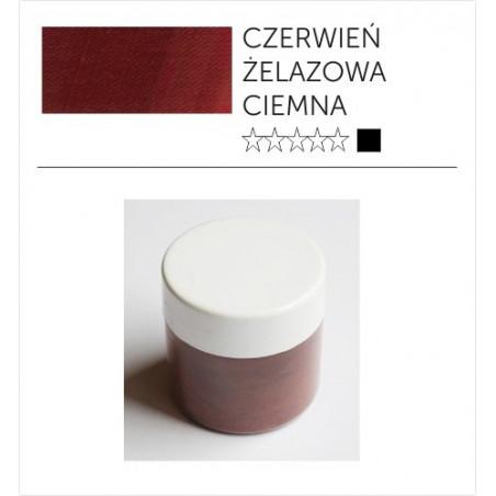 Pigmenty greckie - suche - czerwień żelazowa ciemna