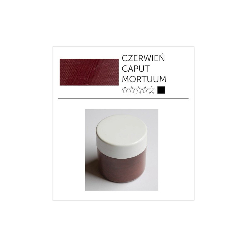 Pigment suchy - czerwień caput mortuum