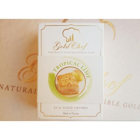 Złoto jadalne aromatyzowane limonka drobinki 0